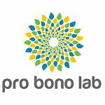 Copy of Logo Pro Bono Lab blanc HD carré